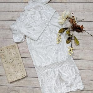 L'Atiste White Lace two piece set